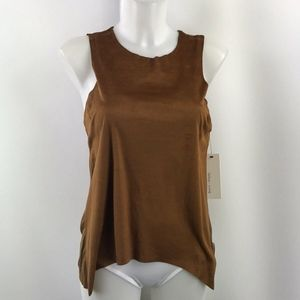 Bishop + Young Brown Solid Tank Size XS